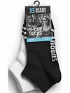 Better Bodies Short Socks 2-Pack, Black/White