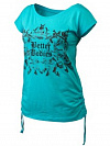 Better Bodies Printed S/S Tee, Aqua Blue